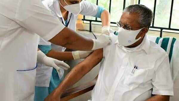 Kerala CM takes the first shot of Covid-19 vaccine